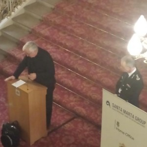 Cardinal Vincent Nichols & Sir Bernard Hogan-Howe at the Santa Marta Group Meeting Dec 2014