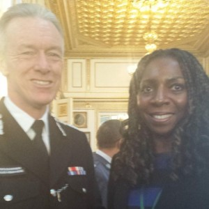 Yvonne & Metropolitan Police commissioner Sir Bernard Hogan-Howe