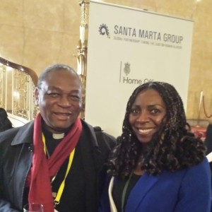 Yvonne & the bishop of Nigeria