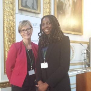 Yvonne Hall & News Presenter Julie Etchingham