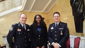 Yvonne with DS Paul Morris & Colleague from the Australian Federal Police at the Santa Marta Group