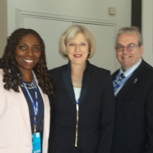 Directors Yvonne & Gerard with the Former Home Secretary Theresa May