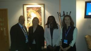 Yvonne  Gerard with Minister Karen Bradley & Barrister Caroline Haughey