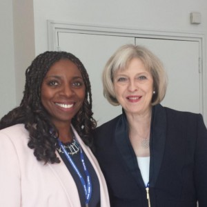 Yvonne & the Former Home Secretary Theresa May