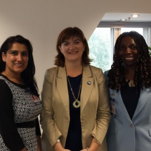 Yvonne with the Former Minister for Education Nicky Morgan & Jasvinder Sanghera CBE