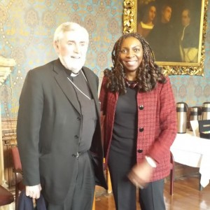 Bishop Patrick Lynch & Yvonne at St Marys University, Twickenham