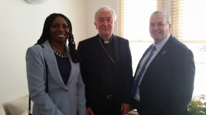 Yvonne Hall, Cardinal Vincent Nicholls and Gerard Stocks