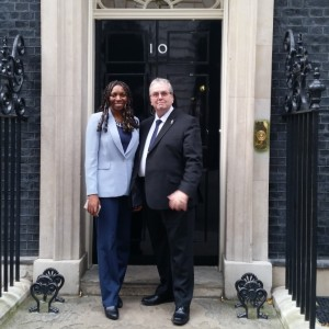 Yvonne Hall & Gerard Stocks visit No 10 Downing Street