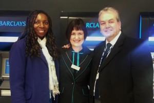 Yvonne & Gerard with Barclays Sponsor
