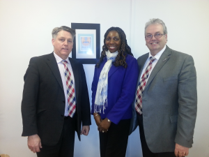 Yvonne & Gerard with Kevin Hyland, the Former Head of the Metropolitan Police  Human Trafficking Team During his visit to Palm Cove Society