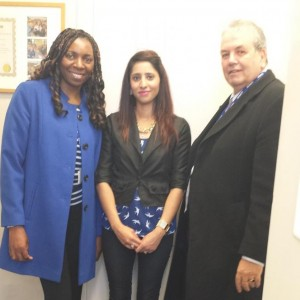 Yvonne & Gerard say Goodbye to a Bradford BSc University Student at the End of her Placement.