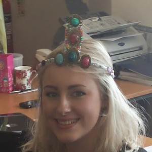 Wakefield University MSc Social Work Student leaving Palm Cove Society  following Placement (crown made by her Palm Cove Society mentors)