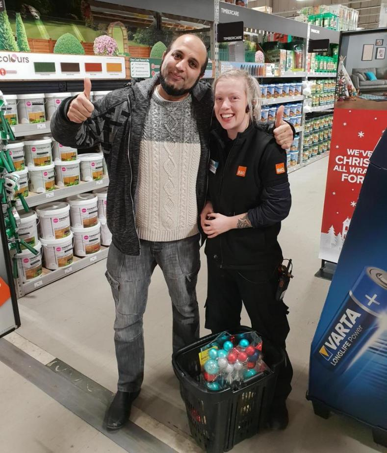 PCS member at B&Q collecting donations