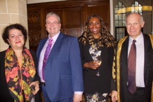 Lord Neuberger & Her Honour Judge Taylor with Yvonne & Gerard