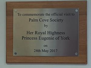 Plaque commemorating the Royal Visit
